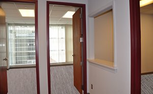 Example of an office suite featuring multi-room configurations